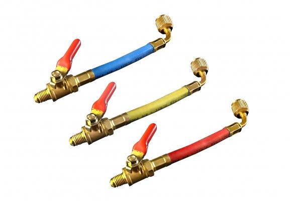 Hose with shut-off valve for R410A